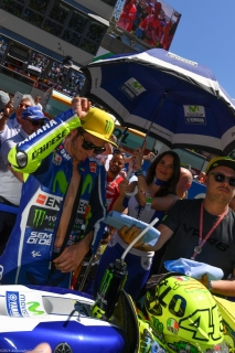 Valentino Rossi in griglia di partenza